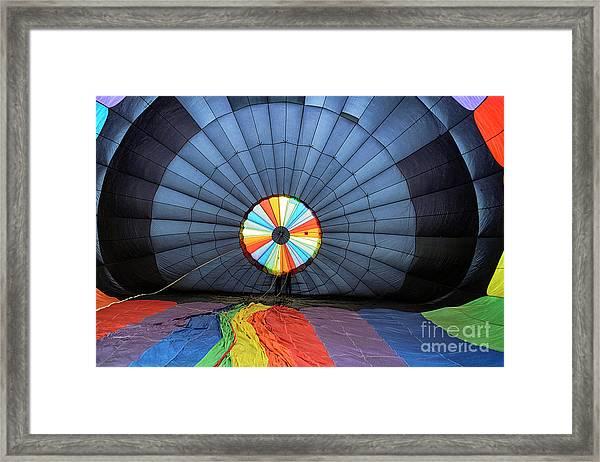 Inside The Balloon Framed Print