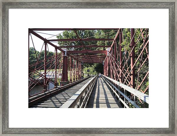 Inside The Bollman Truss Bridge At Savage Maryland Framed Print