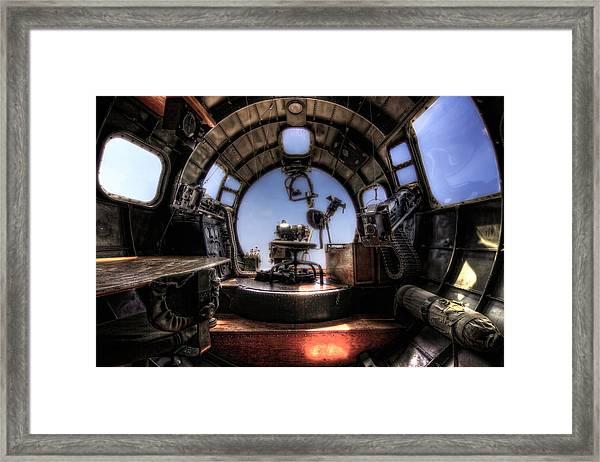 Inside The Flying Fortress Framed Print