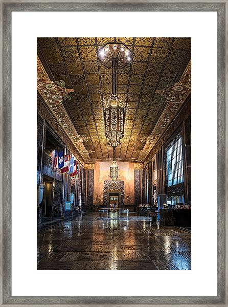 Inside The Louisiana State Capitol Framed Print