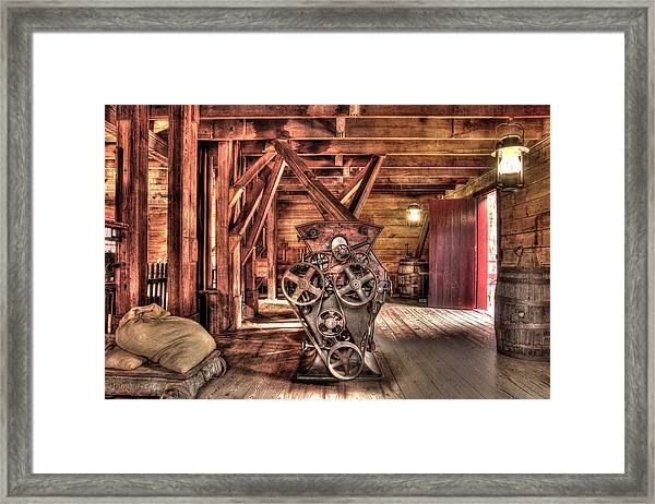 Inside The Mill Framed Print