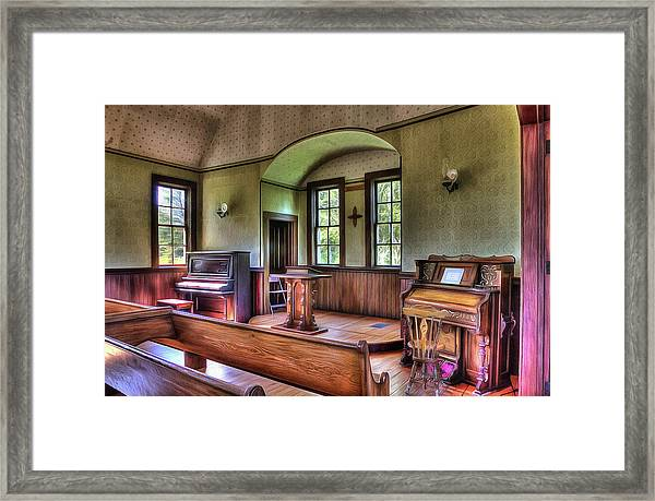 Inside The Oysterville Church  Framed Print