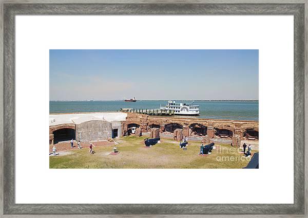Inside View Of Fort Sumter Framed Print