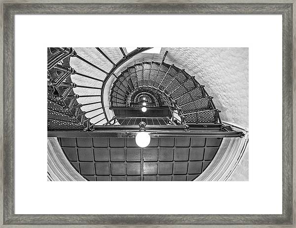 Inside Yaquina Head Light Framed Print