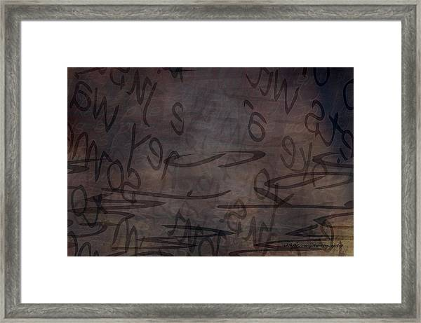 Insignificance Framed Print