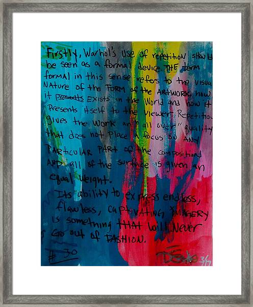 Inspiration From Warhol Framed Print