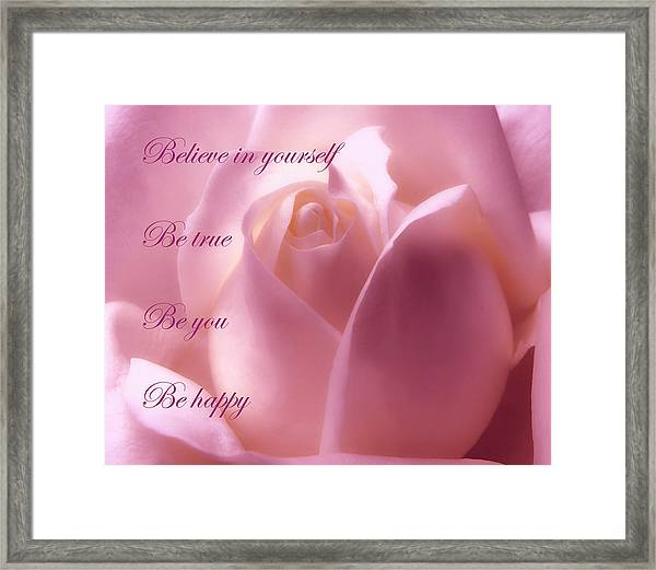 Inspirational Rose Framed Print