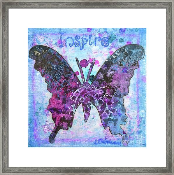 Inspire Butterfly Framed Print