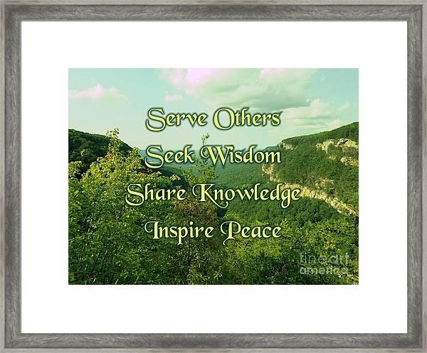 Inspire Peace Framed Print