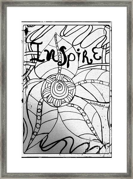 Framed Print featuring the drawing Inspire by Rachel Maynard