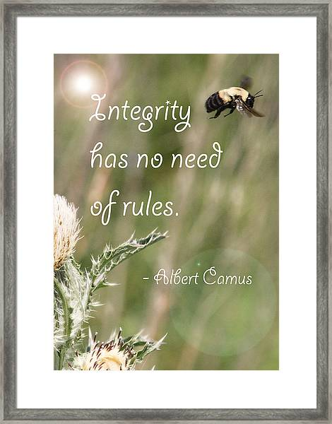 Integrity Framed Print