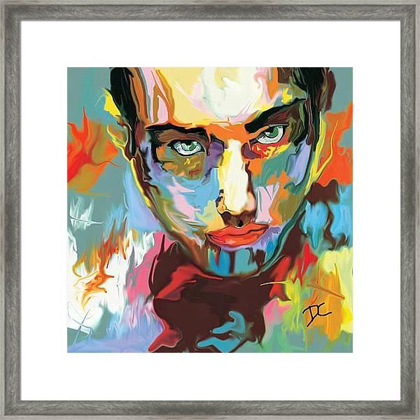 Intense Face 2 Framed Print