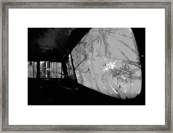 Interior In Gray Framed Print