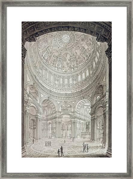 Interior Of Saint Pauls Cathedral Framed Print