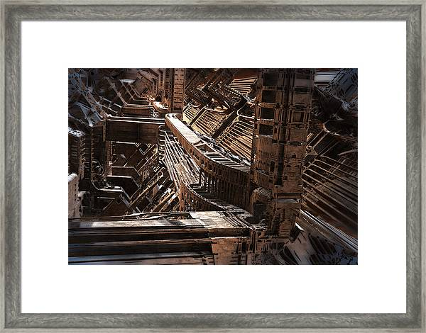 Interior Support Structure Framed Print