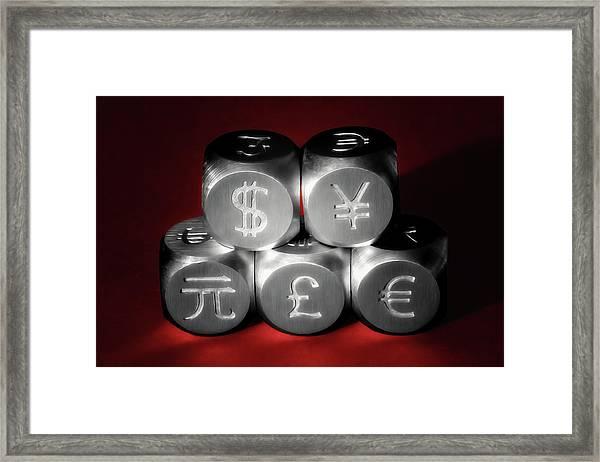 International Currency Symbols II Framed Print