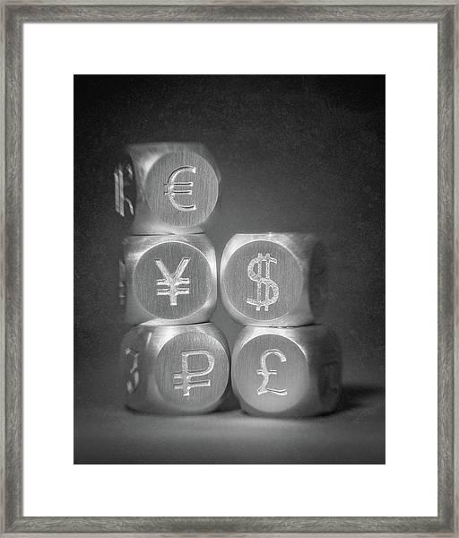 International Currency Symbols Framed Print