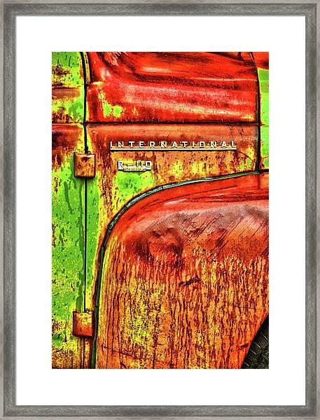 International Mcintosh Vert Framed Print