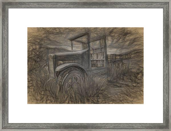 International Truck Skeleton Framed Print