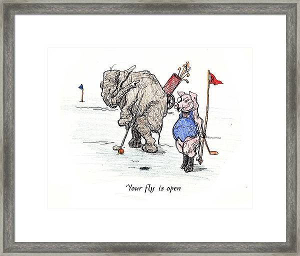 Interrupting Concentration Framed Print