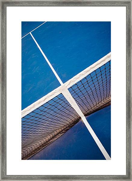 Intersections On The Tennis Court Framed Print
