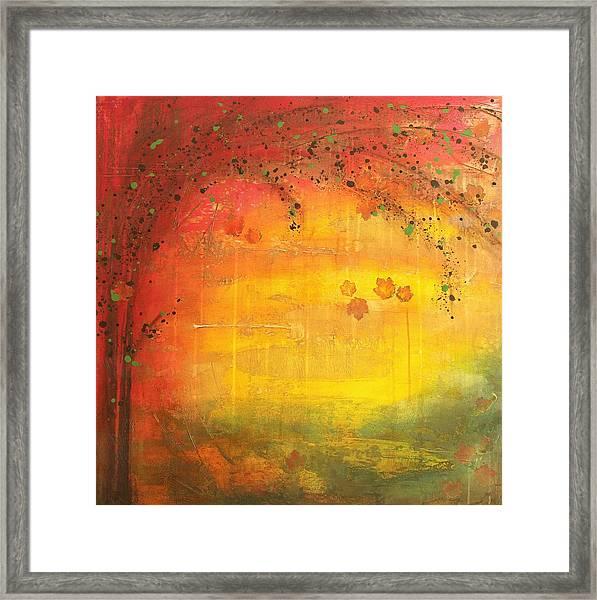 Into Fall - Tree Series Framed Print