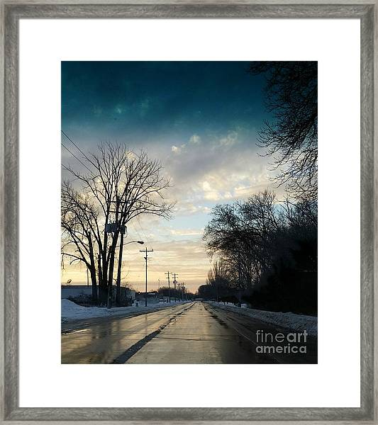 Into New Country Framed Print