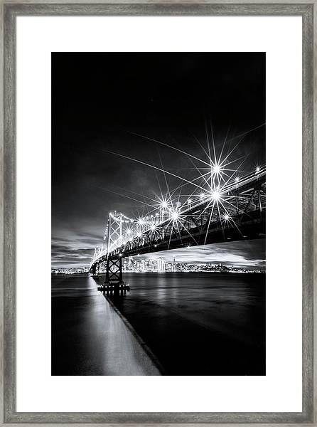 Into The City, Black And White Framed Print by Vincent James