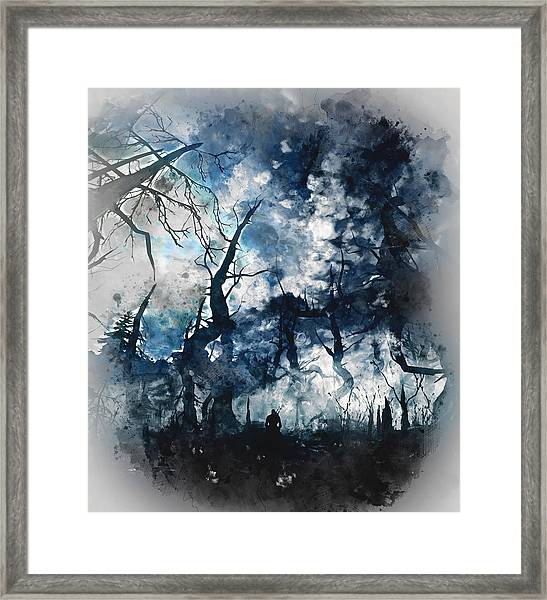 Into The Darkness - 01 Framed Print