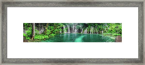 Into The Waterfalls - Plitvice Lakes National Park Croatia Framed Print