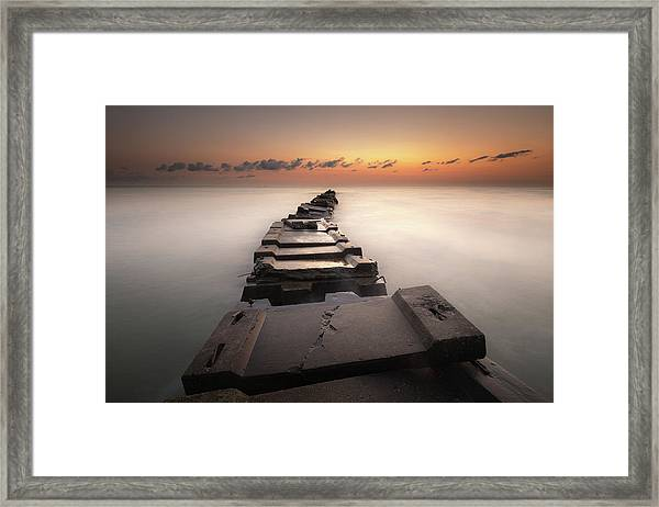 Into The Golden Morning Framed Print