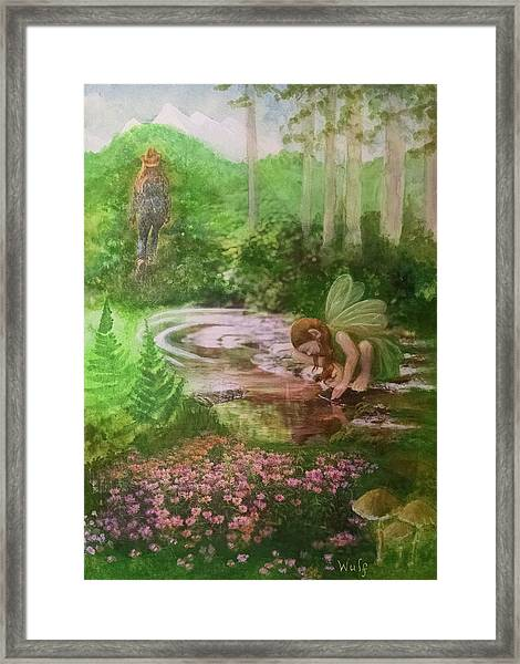 Into The Hollow Hills Framed Print