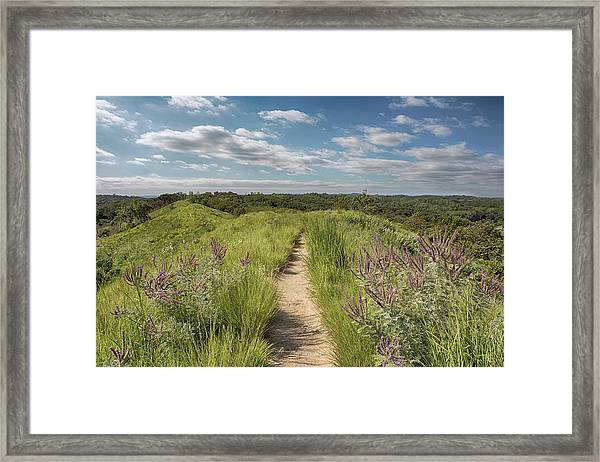 Into The Loess Hills Framed Print