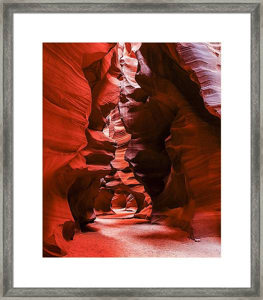 Into The Maze Framed Print