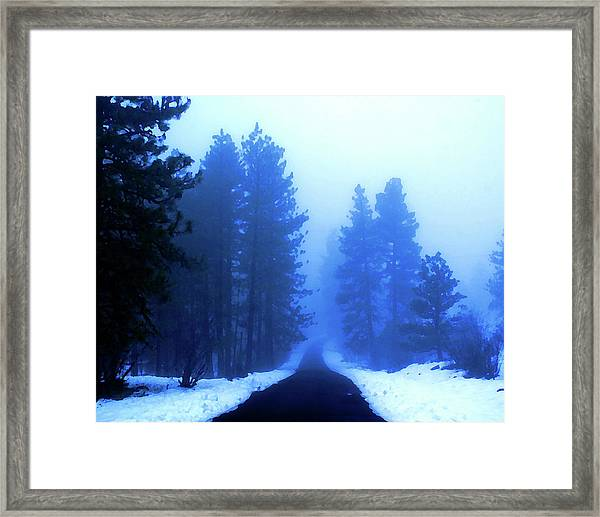 Into The Misty Unknown Framed Print
