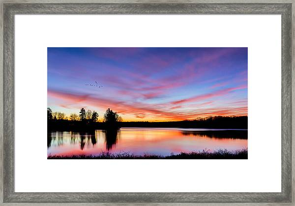 Into The Morning Framed Print