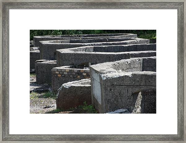 Into The Ruins 3 Framed Print