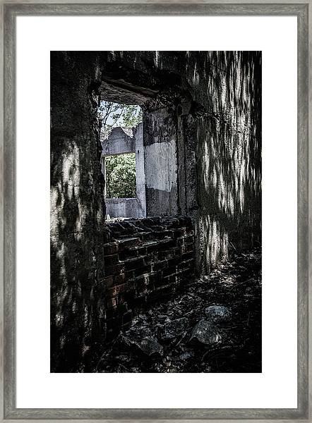 Into The Ruins 4 Framed Print