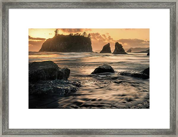 Into The Sea - Ruby Beach Framed Print by T-S Fine Art Landscape Photography