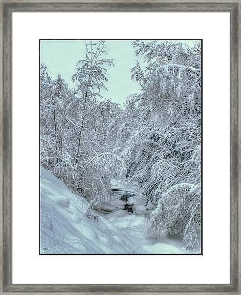 Into White Framed Print