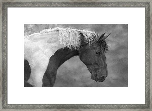 Intrigued - Black And White Framed Print