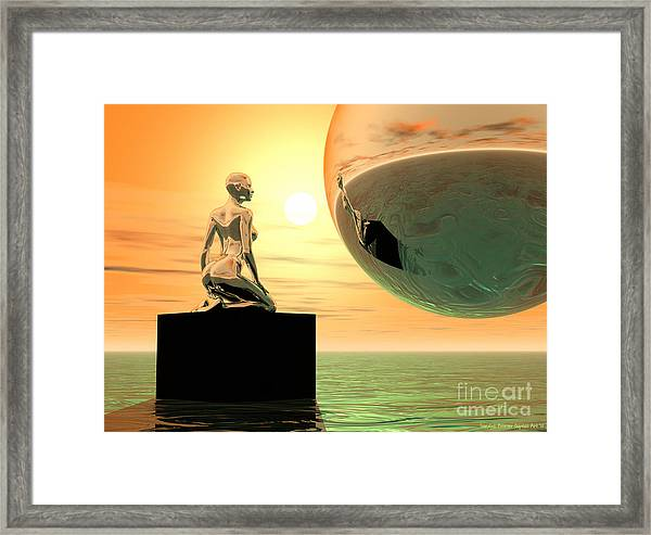 Introspection Framed Print by Sandra Bauser Digital Art