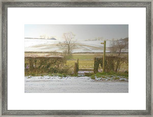 Invitation To A Winter Walk Framed Print by Aleck Rich Seddon