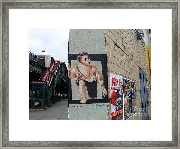 Inwood Graffiti  Framed Print