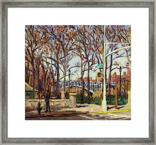 Inwood Hill Park And The Henry Hudson Bridge Framed Print