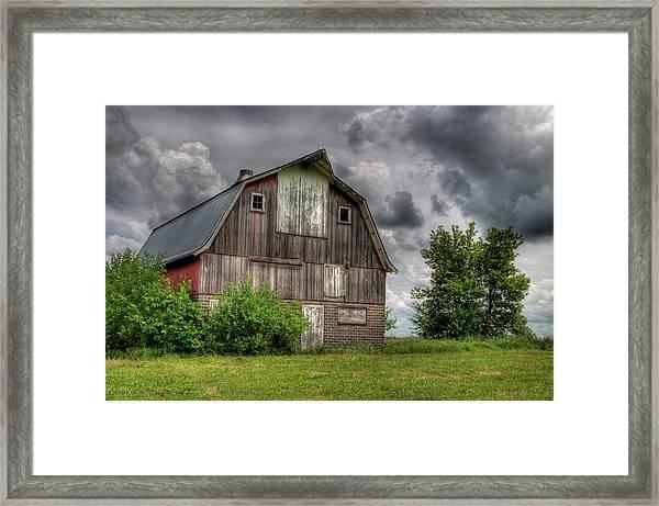 Iowa Barn Framed Print