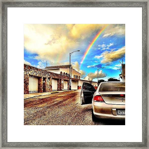 #iphone # Rainbow Framed Print
