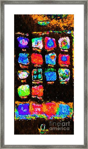 Iphone In Abstract Framed Print