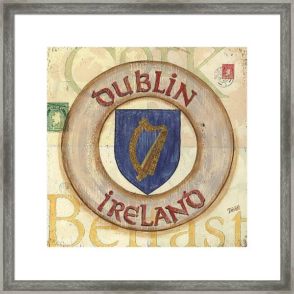 Ireland Coat Of Arms Framed Print