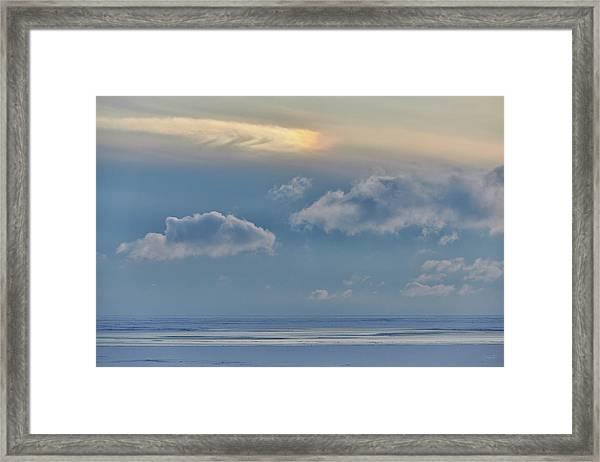 Iridescence Horizon Framed Print